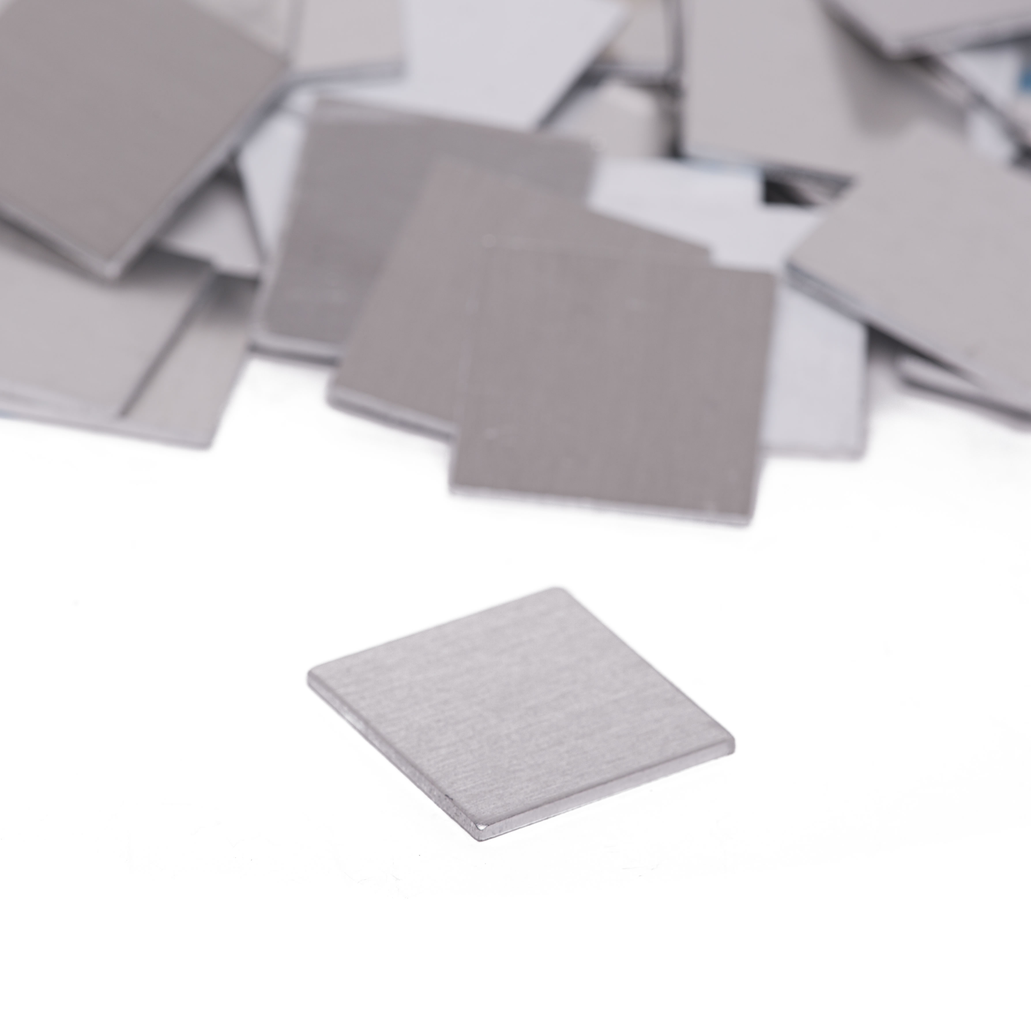 Aluminum 0.063 Inch - 50 Pack RMP Stamping Blanks 1//2 Inch x 2 Inch Rectangle with Left Side of Half Heart Cutout 14 Ga.