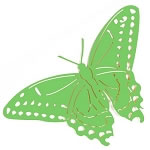 Jumbo Butterfly Metal Yard Art / Garden Stake - Green