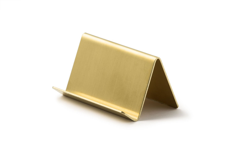 rmp modern horizontal business card holder  brass9j00014