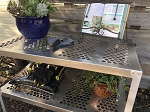 RMP Aluminum Greenhouse Potting Bench and Utility Table - Round Holes