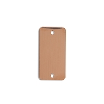 RMP Stamping Blanks, 7/8 Inch x 1-1/2 Inch Rectangle with Rounded Corners and Two 0.075 Inch Holes, 16 Oz. Copper 0.021 Inch (24 Ga.) - 10 Pack - SALE