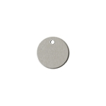 RMP Stamping Blanks, 1 Inch Round with One Hole, Aluminum 0.063 Inch (14 Ga.) - 1,000 Pack