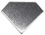RMP Stamping Blanks, 1 Inch Diamond with No Hole, Aluminum 0.063 Inch (14 Ga.) - 50 Pack