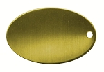 RMP Stamping Blank, 0.586 Inch x 0.921 Inch Oval with One Hole, 260 Brass 0.032 Inch (20 Ga.) - 20 Pack