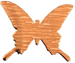 RMP Stamping Blanks, 1 Inch Butterfly, 16 Oz. Copper 0.021 Inch (24 Ga.) - 5 Pack