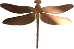 RMP 5-7/8 Inch x 4 Inch Copper Dragonfly Cutout - 3 Pack