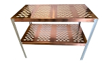 RMP Copper Greenhouse Potting Bench and Utility Table - Oval Holes
