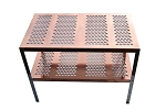 RMP Copper Greenhouse Potting Bench and Utility Table - Round Holes