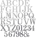RMP Large 10 Inch Decorative Galvanized Letters and Numbers - Super Pack - 68 Count