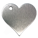 RMP Stamping Blanks, 1-1/4 Inch Heart with Top Left Hole, Aluminum 0.063 Inch (14 Ga.) - 50 Pack