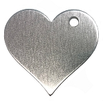 RMP Stamping Blanks, 1-1/4 Inch Heart with Top Right Hole, Aluminum 0.063 Inch (14 Ga.) - 50 Pack