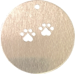 RMP Stamping Blanks, 2 Inch Round with One Hole and Two Center Dog Paws, Aluminum 0.063 Inch (14 Ga.) - 1,000 Pack