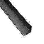 RMP Hot Roll Steel Structural Angle A36, 1/2 Inch x 1/2 Inch Leg Length x 1/8 Inch Wall x 36 Inch Length, Rounded Corners