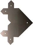 RMP Reinforcing Corner Gate Plates - Set of 2 (4 Plates Total + Hardware)