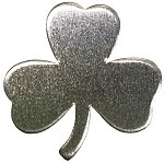 RMP Stamping Blanks, 1 Inch Shamrock with No Hole, Aluminum 0.063 Inch (14 Ga.) - 50 Pack