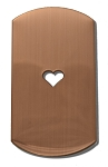RMP Stamping Blanks, 1 Inch x 2 Inch Dog Tag with 1/4 Inch Center Heart, 16 Oz. Copper 0.021 Inch (24 Ga.) - 10 Pack