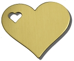 RMP Stamping Blanks, 1-1/4 Inch Heart with 1/4 Inch Left Side Heart, 260 Brass 0.032 Inch (20 Ga.) - 20 Pack