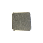 RMP Stamping Blanks, 1 Inch Square with Rounded Corners, Aluminum 0.063 Inch (14 Ga.) - 50 Pack