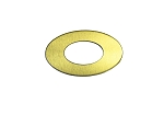 RMP Stamping Blank, 1.829 Inch Oval Washer with 0.921 Inch Center, 260 Brass 0.032 Inch (20 Ga.) - 20 Pack