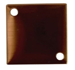 RMP Stamping Blanks, 3/4 Inch Square with Two Corner Holes, 16 oz. Copper 0.021 Inch (24 Ga.) - 10 Pack