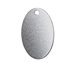 RMP Stamping Blanks, 7/8 Inch x 1-3/8 Inch Oval with One Hole, Aluminum 0.063 Inch (14 Ga.) - 50 Pack