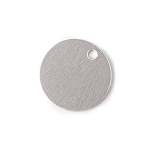RMP Stamping Blanks, 5/8 Inch Round with One Hole, Aluminum 0.063 Inch (14 Ga.) - 100 Pack