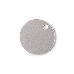 RMP Stamping Blanks, 3/4 Inch Round with One Hole, Aluminum 0.040 Inch (18 Ga.) - 1,000 Pack