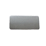 RMP Stamping Blanks, 1 Inch x 2 Inch Rectangle with Rounded Corners, Aluminum 0.063 Inch (14 Ga.) - 100 Pack