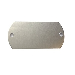 RMP Stamping Blanks, 1 Inch x 2 Inch Dog Tag with Two 0.075 Inch Holes, Aluminum 0.063 Inch (14 Ga.) - 50 Pack - SALE