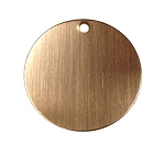 RMP Stamping Blanks, 2-7/8 Inch Round w/ Hole, 16 Oz. Copper 0.021 Inch (24 Ga.) - 30 Pack (Only ONE side has PVC)