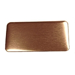 RMP Stamping Blanks, 1 Inch x 2 Inch Rectangle with Rounded Corners, 16 oz. Copper 0.021 Inch (24 Ga.) - 30 Pack