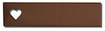 RMP Stamping Blanks, 1/2 Inch x 2 Inch Rectangle with 1/4 Inch Left Side Horizontal Heart, 16 Oz. Copper 0.021 Inch (24 Ga.) - 10 Pack