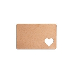 RMP Stamping Blanks, 2-1/8 Inch x 3-3/8 Inch Rectangle Wallet Card with 3/4 Inch Heart, 16 oz. Copper 0.021 Inch (24 Ga.) - 3 Pack