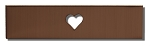 RMP Stamping Blanks, 1/2 Inch x 2 Inch Rectangle with 1/4 Inch Center Heart Cutout, 16 Oz. Copper 0.021 Inch (24 Ga.) - 10 Pack