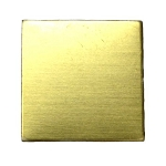 RMP Stamping Blanks, 5/8 Inch Square, Brass 0.032 Inch (20 Ga.) - 20 Pack