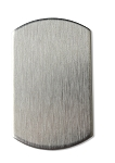 RMP Stamping Blanks, 3/4 Inch x 1-1/4 Inch Dog Tag, Aluminum 0.063 Inch (14 Ga.) - 50 Pack
