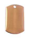 RMP Stamping Blanks, 3/4 Inch x 1-1/4 Inch Dog Tag with One Hole, 16 Oz. Copper 0.021 Inch (24 Ga.) - PVC Coating on BOTH Sides - 10 Pack