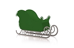 Large Santa Sleigh Christmas Decoration with HO HO HO base