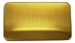 RMP Stamping Blanks, 2-1/8 Inch x 3-3/8 Inch Rectangle with Rounded Corners, Brass 0.020 Inch (24 Ga.) - 100 Pack