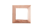 RMP Stamping Blanks, 1 Inch Square Washer with 5/8 Inch Center, 16 oz. Copper 0.021 Inch (24 Ga.) - 10 Pack