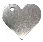 RMP Stamping Blanks, 1-1/4 Inch Heart with Top Left Hole, Aluminum 0.063 Inch (14 Ga.) - 100 Pack