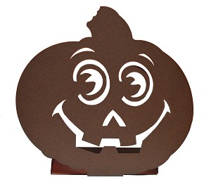 RMP Pumpkin Candle Holder - Rust Color