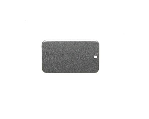 RMP Stamping Blanks, 1 Inch x 2 Inch Rectangle with Rounded Corners and One Hole, Aluminum 0.063 Inch (14 Ga.) - 50 Pack
