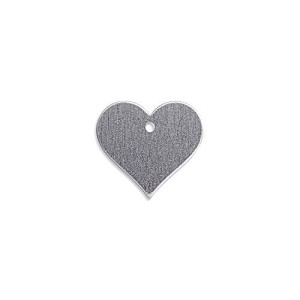 "RMP Stamping Blanks, 0.921"" x 1"" Heart w/ One 0.075"" Hole, Aluminum 0.063"" (14 Ga.) - 50 Pack - SALE"