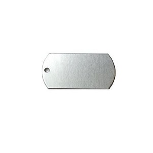 RMP Stamping Blanks, 1 Inch x 2 Inch Dog Tag with One 0.075 Inch Hole, Aluminum 0.063 Inch (14 Ga.) - 50 Pack - SALE