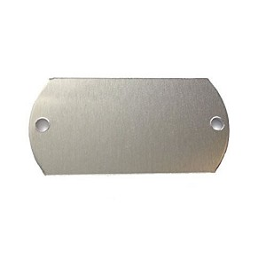 RMP Stamping Blanks, 1 Inch x 2 Inch Dog Tag with Two 0.075 Inch Holes, Aluminum 0.032 Inch (20 Ga.) - 50 Pack - SALE