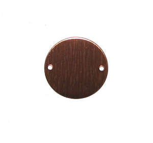 "RMP Stamping Blanks, 1"" Round w/ Two  0.075"" Holes, 16 Oz. Copper 0.021"" Thickness (24 Ga.) 10 Pack - SALE"
