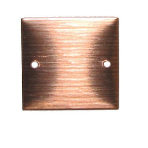 "RMP Stamping Blanks, 1"" Square w/ Two 0.075"" Center Edge Holes, 16 Oz. Copper (24 Ga.) 10 Pack - SALE"