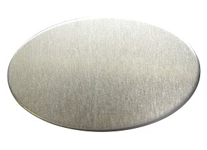 RMP Stamping Blanks, 0.586 Inch x 0.921 Inch Oval, Aluminum 0.032 Inch (20 Ga.) - 50 Pack