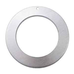 "RMP Stamping Blanks, 1-1/4"" Washer w/ 3/4"" Center and One 0.075"" Hole, Aluminum 0.040"" (18 Ga.) 50 Pack - SALE"